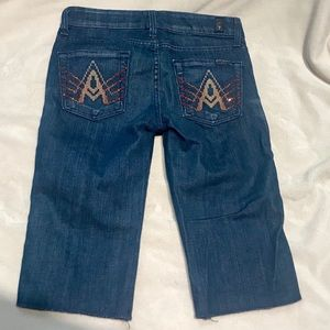 7 For All Mankind Cropped A Pocket  Capri Jeans 25